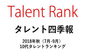 【Talent Rank】タレント四季報・10代タレントランキング、No.1は芦田愛菜